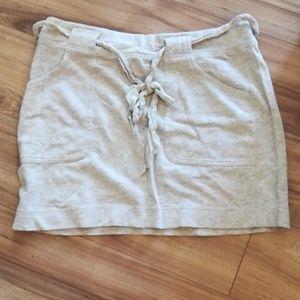 Loft belted mini skirt